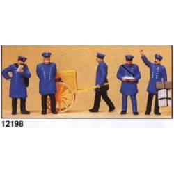 Post officials. Around 1900.