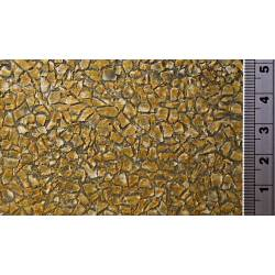 Muro de mampostería efecto musgo.