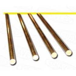 Round brass profile. 2 mm.