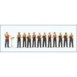 Male choir. PREISER 10599