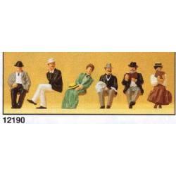 Personas sentadas de época (1900). PREISER 12190
