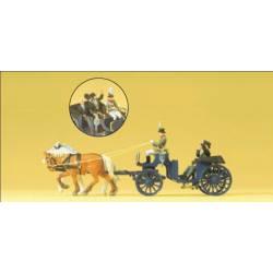 Carruaje de caballos. PREISER 24606