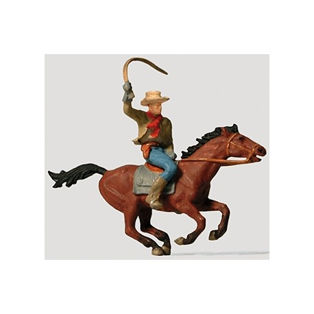 Cowboy on horseback. PREISER 29065
