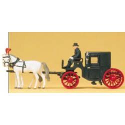 Carroza de caballos. PREISER 30452