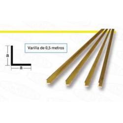 Brass profile L. 2,5 x 2,5 mm.