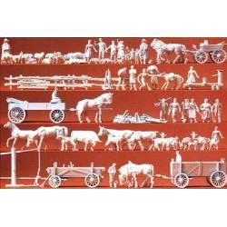 Grupos rurales y carros. PREISER 16327
