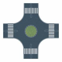 Cruce de calles con rotonda. BUSCH 1102