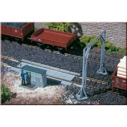 Track scale with loading gauge. AUHAGEN 11404