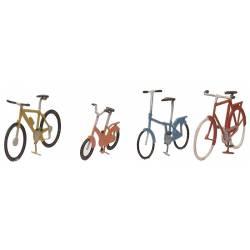 Bicicletas montadas.