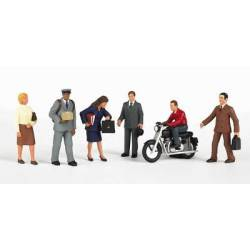 City People with Motorcycle.