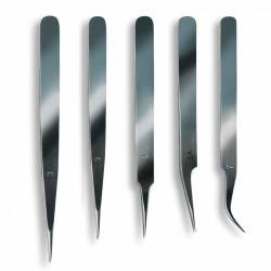 Cinco pinzas de precisión. ARTESANIA LATINA 27068