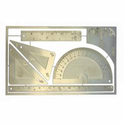 Regla de acero de 30 cm.