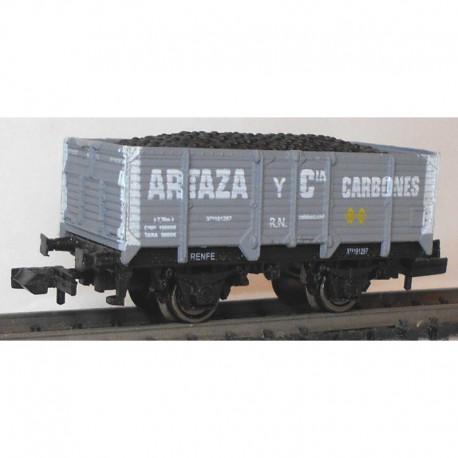 """Vagón abierto tipo X2, """"Artaza y Cia""""."""