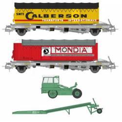 Set de plataformas Kanguro y tractor.