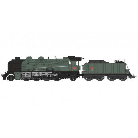 Locomotora de vapor 141, SNCF. Fumígeno y sonido.