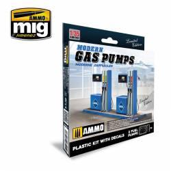Modern gas pumps.