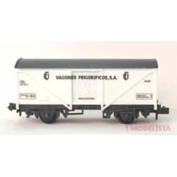 """Vagón frigorífico """"Vagones frigoríficos, SA""""."""