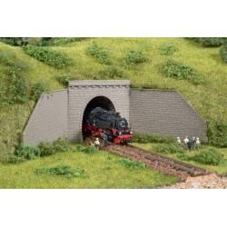 Tunnel portals single track.