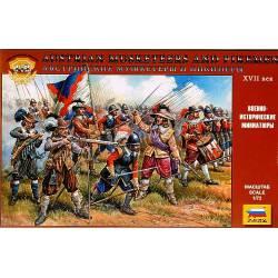 Austrian Musketeers and Pikemen.