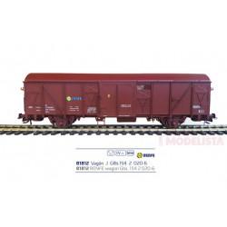 Vagón Gbs 154 2 020-6, RENFE.