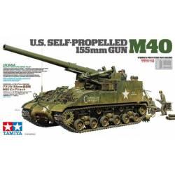 US self-propelled 155mm gun M40.