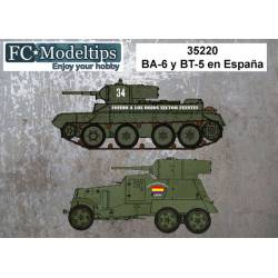 Decal set: BA-6 y BT-5.