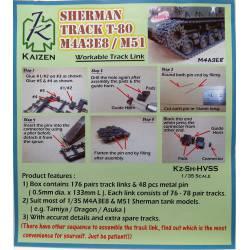 Cadenas para Sherman T80.