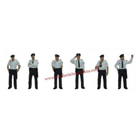 Spanish national policemen with summer uniform. ANESTE 4096