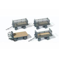 Electric vehicle with trailers.