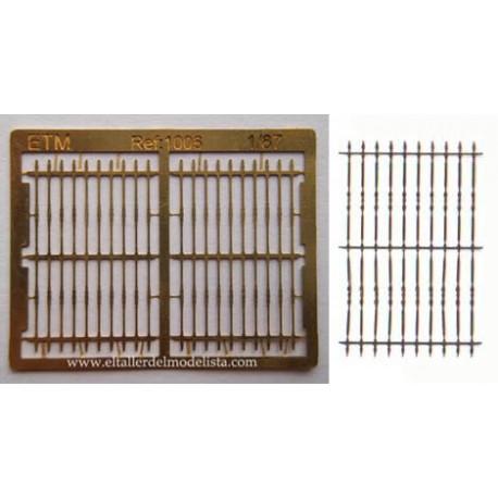 Rejas de hierro para ventanas. ETM 1006