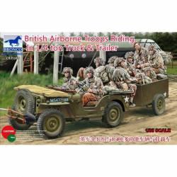 British airborne troops riding.