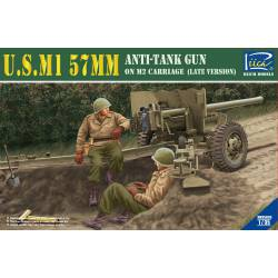 Cañón antitanque M1 57 mm sobre M2.
