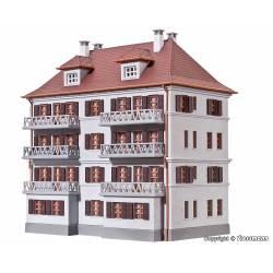 Apartamentos con balcones.