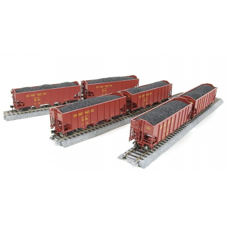 Set of six 3-Bay hoppers. UP.