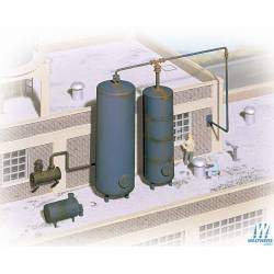 Industrial storage tanks.