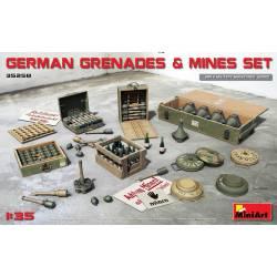 German grenades and mines set.