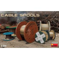 Cable spools.