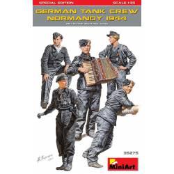 German tank crew, Normandy.
