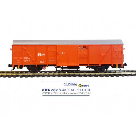 Vagón auxiliar RENFE 9513013-0.