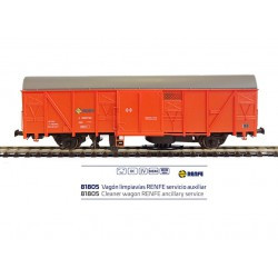 Vagón limpiavías servicio auxiliar, RENFE.