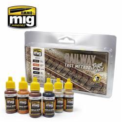 Railway fast method paint set.