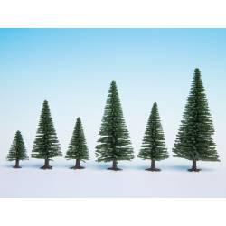 Model fir trees.