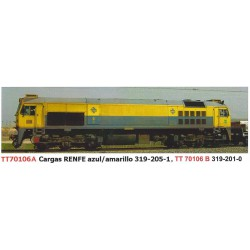 "Diesel locomotive 319-201 ""Blue-Yellow"", RENFE."