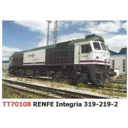"""Locomotora 319-219 """"Integria"""", RENFE."""