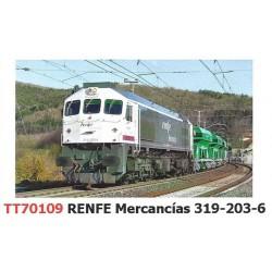 """Locomotora 319-203 """"Mercancías"""", RENFE."""