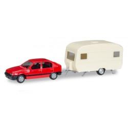 Opel Kadett E GLS with caravan.