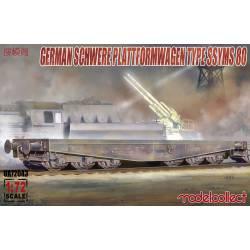 Cañón Schwerer en plataforma tipo SSYMS 80.
