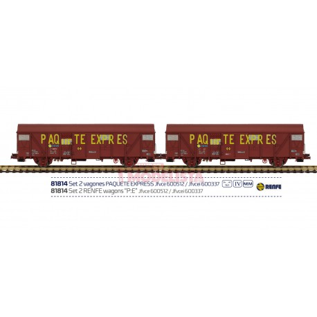 Set de vagones Paquete Express, RENFE.