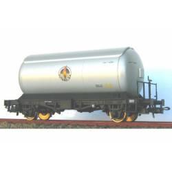 Cisterna para gases licuados. Plata.