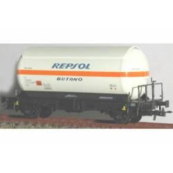 Cisterna para gases licuados. Blanca y naranja. KTRAIN 0708J